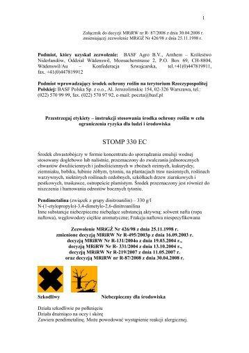 STOMP 330 EC.pdf - BASF Polska