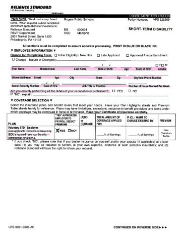 Resident Disability Application Form  British Columbia Medical