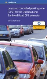 proposed controlled parking zone (CPZ) for the Old ... - Brian Robson