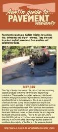 Coal Tar Ban - City of Austin
