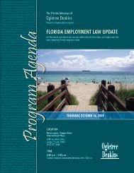 FLORIDA EMPLOYMENT LAW UPDATE