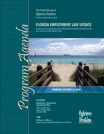 FLORIDA EMPLOYMENT LAW UPDATE