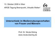 Vortrag Nicola Döring - Österreichische ARGE Suchtvorbeugung