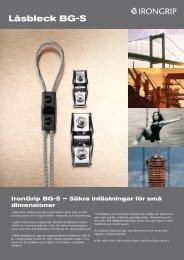 BG-S LÃ¥sbleck.pdf - IronGrip