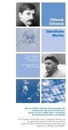 Sämtliche Werke Othmar Schoeck