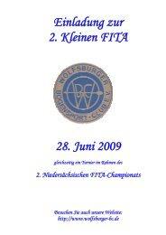 Einladung zur 2. Kleinen FITA 28. Juni 2009 - Bogensport im SV ...