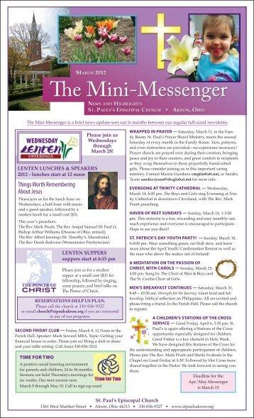 Download /March Mini Messenger 2012 Edition - St. Paul's ...