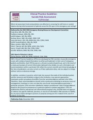 Clinical Practice Guideline: Suicide Risk Assessment - Emergency ...