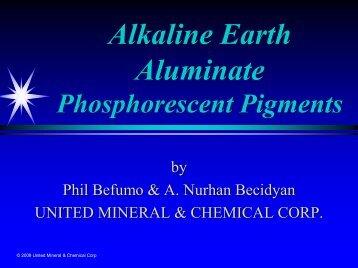 Alkaline Earth Aluminate Phosphorescent Pigments by Phil Befumo ...