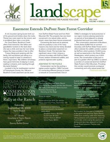 2009 Summer Newsletter - Carolina Mountain Land Conservancy