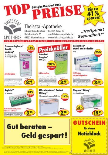 Angebote - Theisstal-Apotheke