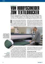 Vom Hobbyschneider zum Textildrucker - Rost: Werkstätten