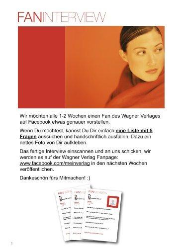 Fan Interview Wagner Verlag
