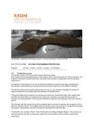 See web presentation - Arkitektur- og designhøgskolen i Oslo - AHO