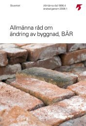 Allmänna råd om ändring av byggnad, BÄR - Archileaks