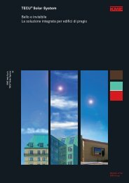TECU® Solar System Bello e invisibile La soluzione integrata per ...