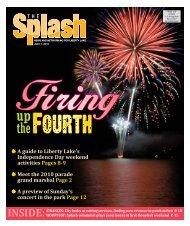 INSIDE: - The Liberty Lake Splash