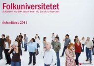 Årsberättelse 2011 - Folkuniversitetet
