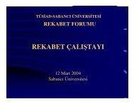 Açılış - REF - Sabancı Üniversitesi