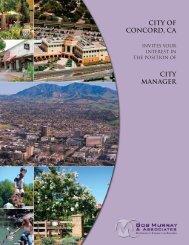 CITY OF CONCORD, Ca CITY MANAGER - Bob Murray & Associates