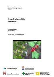 Krusbär eller måbär - Vem bryr sig? Lillhärad, 2004 - Skogsstyrelsen