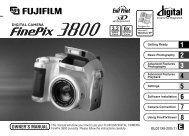 FinePix 3800 Owner's Manual - Fujifilm Canada