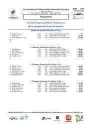 Détails des nageurs au 25/03/13 - Lycée Français Kuala Lumpur