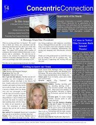 2011 1st Quarter Newsletter - Concentric Corporation