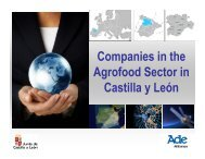 Companies in the Agrofood Sector in Castilla y León - Food Valley