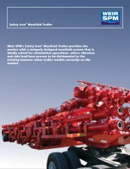 safety iron manifold trailers brochure - front - Weir Oil & Gas Division