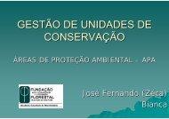 GESTÃO DE UNIDADES DE CONSERVAÇÃO - SIGAM