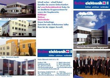 Imagebroschüre DOWNLOAD - Fischer Elektronik GmbH & Co. KG