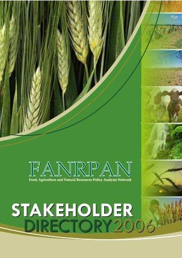 stakeholder - FANRPAN
