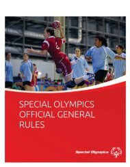 General Rules - Special Olympics Georgia