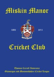Miskin Manor Cricket Club