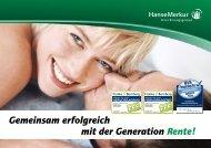 Generation Rente - HanseMerkur VertriebsPortal