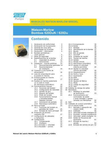 29.10 620RE, 620RE4 y 620R - Watson-Marlow GmbH