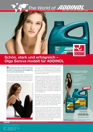 The World of - ADDINOL Lube Oil GmbH