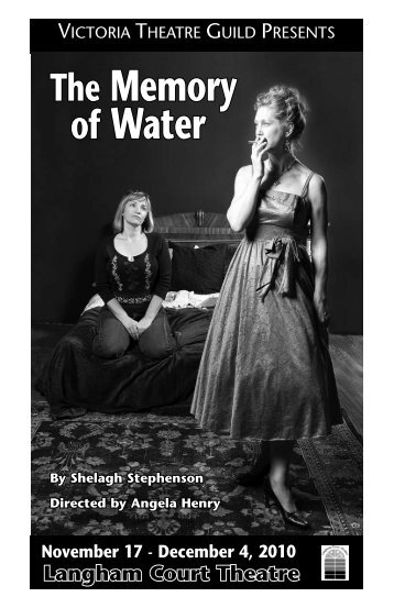 The Memory of Water, Program - Langham Court Theatre