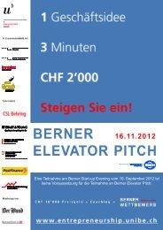 Berner Elevator Pitch_Flyer.pdf - IMU - Management - Universität Bern