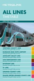 All Lines Timetable PDF - Metrolink