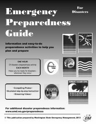 Emergency Preparedness Guide - Washington State Emergency ...