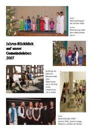 Jahres-Rückblick 2007 in Bildern - im PDF-Format