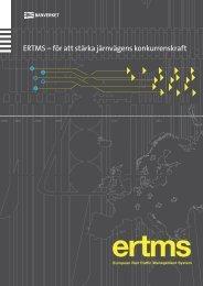 ERTMS – för att stärka järnvägens konkurrenskraft - Banportalen