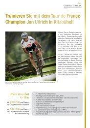 Trainieren Sie mit dem Tour de France Champion Jan Ullrich in ...