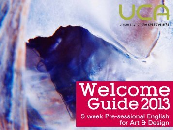 5-Week Pre-sessional English for Art & Design - UCA Community ...