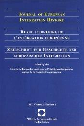 Journal of European Integration History – Revue d'histoire de l'