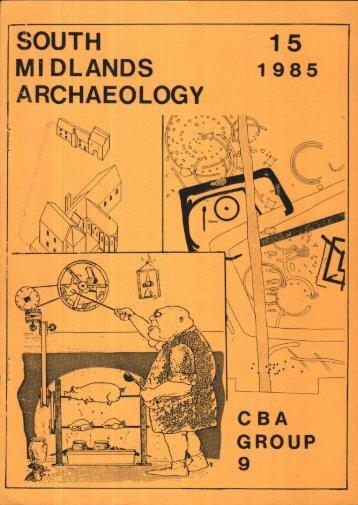 CBA SMA\SMA 1985.PDF - Council for British Archaeology