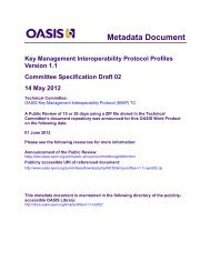 Key Management Interoperability Protocol Profiles Version 1.1
