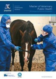 Master of Veterinary Public Health - Faculty of Veterinary Science